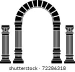 fantasy arch and columns.... | Shutterstock .eps vector #72286318
