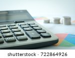 doing finances and calculate on ... | Shutterstock . vector #722864926