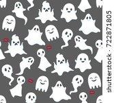 ghost pattern background | Shutterstock .eps vector #722871805