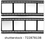 set of film frame  ... | Shutterstock . vector #722878138
