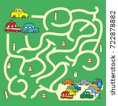 labyrinth  cars  vector icon   Shutterstock .eps vector #722878882
