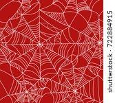 halloween spider web white on... | Shutterstock .eps vector #722884915