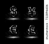 platinum currency symbols set.... | Shutterstock .eps vector #722896606