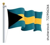 waving bahamas flag isolated on ... | Shutterstock .eps vector #722906266