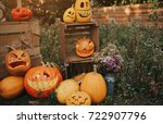 Ghost Pumpkins On Halloween....