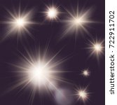 flares  rays  sun burst  vector ... | Shutterstock .eps vector #722911702