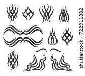 simple tribal element set.... | Shutterstock .eps vector #722911882