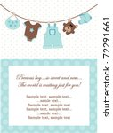 baby boy invitation | Shutterstock .eps vector #72291661