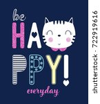 be happy everyday slogan and... | Shutterstock .eps vector #722919616