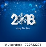 happy new year 2018 greeting... | Shutterstock .eps vector #722932276