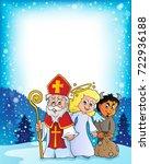 saint nicholas day theme 3  ... | Shutterstock .eps vector #722936188