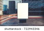 3d rendering of billboard blank ... | Shutterstock . vector #722943346
