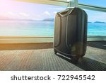 suitcase or luggage over... | Shutterstock . vector #722945542