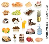 food collection isolated on... | Shutterstock . vector #72294610