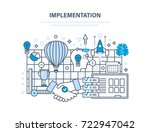 implementation concept.... | Shutterstock . vector #722947042