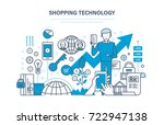 shopping technology. financial... | Shutterstock . vector #722947138