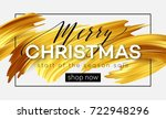 merry christmas lettering on a... | Shutterstock .eps vector #722948296