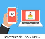 two steps authentication...   Shutterstock .eps vector #722948482