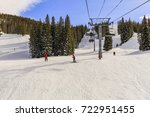 View Of A Colorado Ski Slope On ...