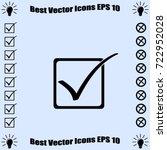 checkbox icon  vector... | Shutterstock .eps vector #722952028