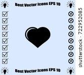 icon of heart. vector... | Shutterstock .eps vector #722952085