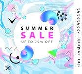 summer sale banner. square.... | Shutterstock .eps vector #722952595