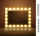 make up mirror with light.... | Shutterstock .eps vector #722960032
