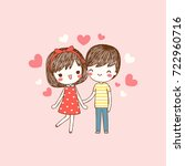 happy valentine's day card with ... | Shutterstock .eps vector #722960716