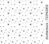 seamless pattern with stars... | Shutterstock .eps vector #722962852