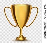 winner cup isolated. golden... | Shutterstock .eps vector #722967196