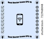 wifi connection vector  icon | Shutterstock .eps vector #722968048