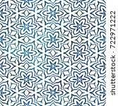 native batik watercolor... | Shutterstock . vector #722971222