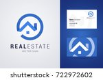 real estate logo and business...   Shutterstock .eps vector #722972602