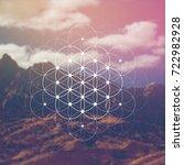 hipster scientific illustration ... | Shutterstock .eps vector #722982928