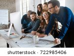 software engineers working on... | Shutterstock . vector #722985406