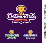 champion sports league logo... | Shutterstock .eps vector #722985466