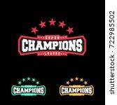 champion sports league logo... | Shutterstock .eps vector #722985502