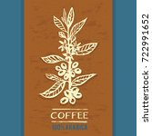 ready stylish design for coffee ... | Shutterstock .eps vector #722991652