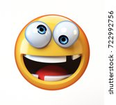 crazy emoji isolated on white... | Shutterstock . vector #722992756