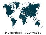 vector world map | Shutterstock .eps vector #722996158