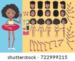 beach girl creation or design... | Shutterstock .eps vector #722999215