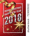 2018 happy new year vector... | Shutterstock .eps vector #723005032