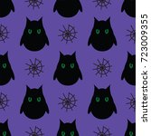 seamless pattern for halloween. ... | Shutterstock .eps vector #723009355