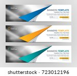 abstract web banner design... | Shutterstock .eps vector #723012196