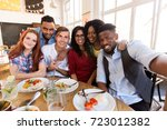 leisure  friendship  people and ... | Shutterstock . vector #723012382