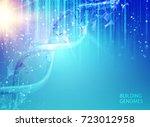 scince illustration of bigdata... | Shutterstock .eps vector #723012958