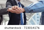 group of young business people... | Shutterstock . vector #723014176