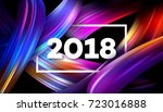 2018 new year on the background ...   Shutterstock .eps vector #723016888