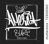 america surfing artwork  t... | Shutterstock .eps vector #723020362