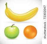 vector illustration of a banana ... | Shutterstock .eps vector #72302047